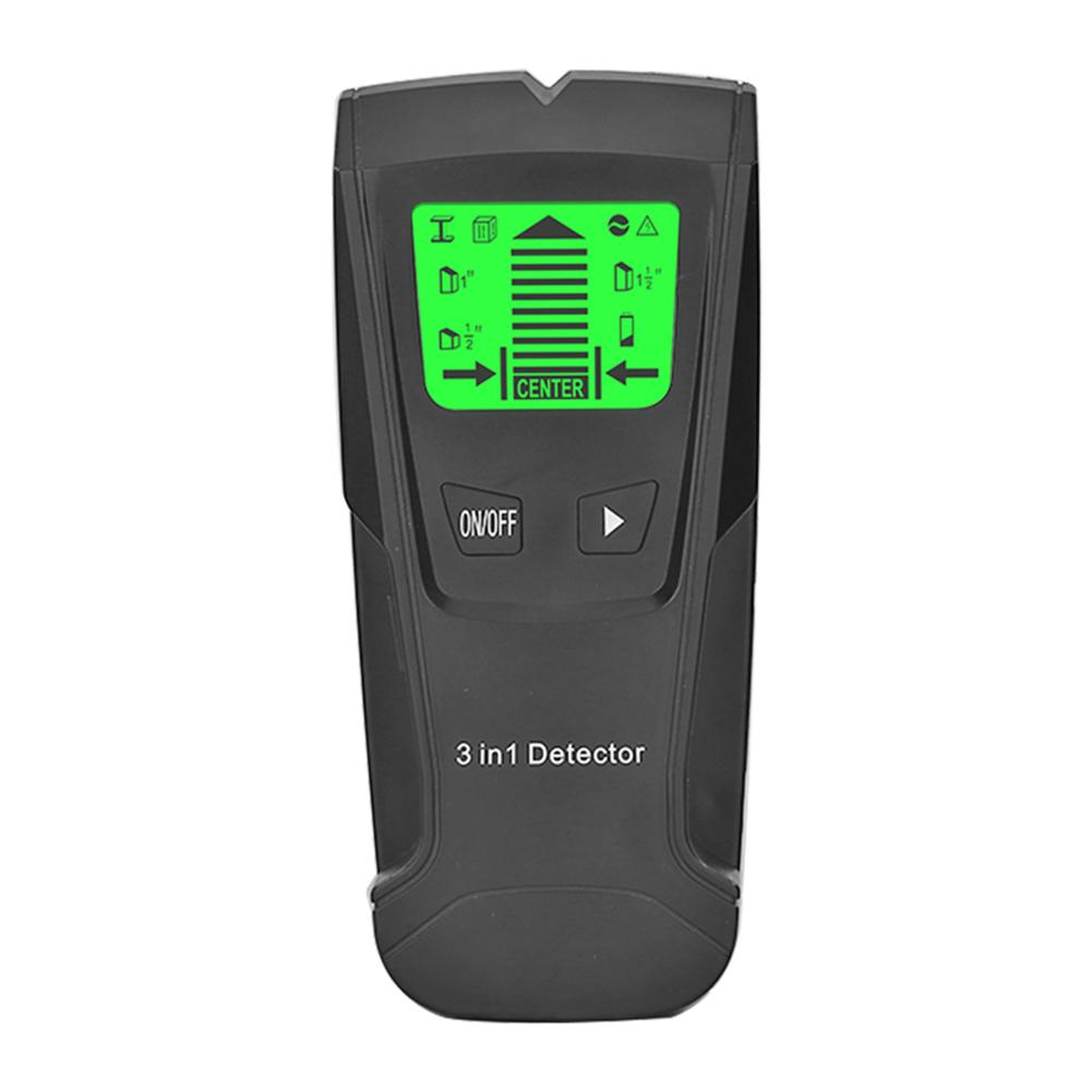 Metal Detector Find Metal Wood Studs Wall Scanner Electric Box Finder Wall Detector black