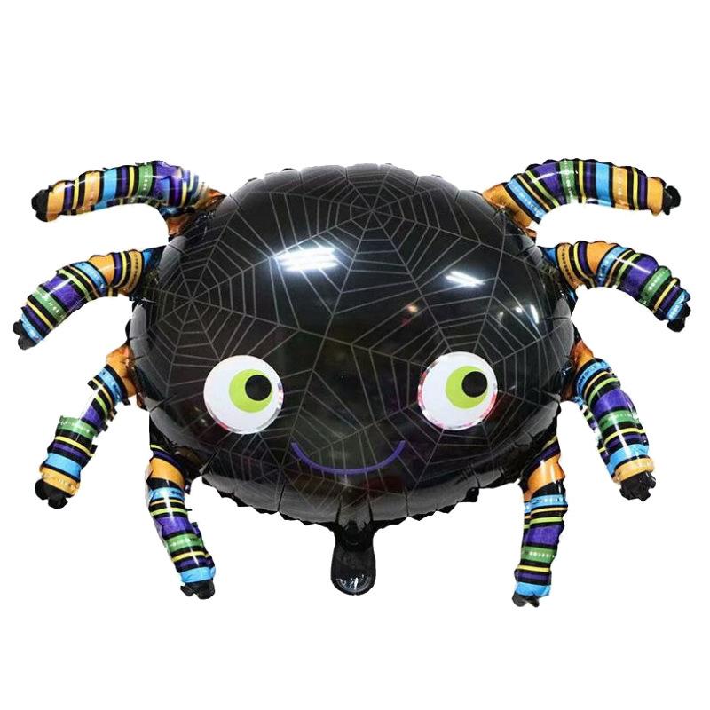 Scary Shape Decorative Ballon Aluminum Foil Ballon for Ghost Festival Halloween Party spider