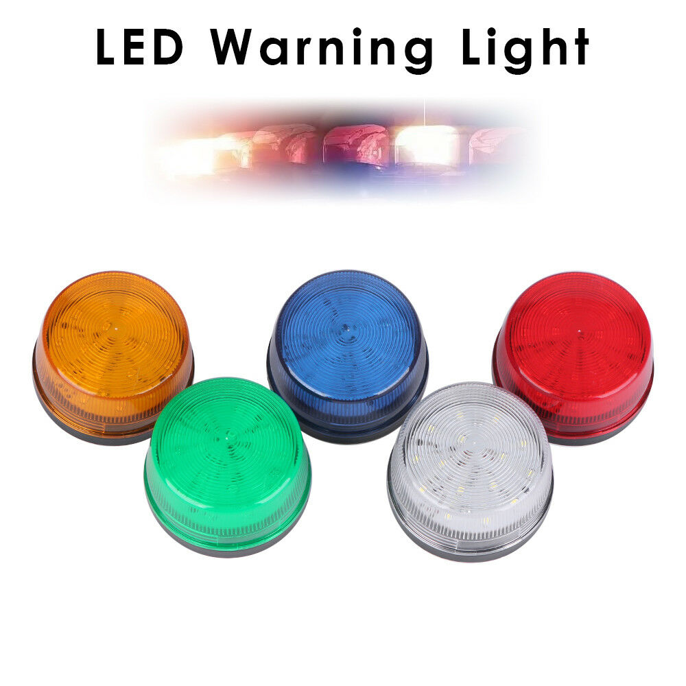 Siren 12V 120mA Alarm Strobe Flashing Light Indicator LED Warning Light blue