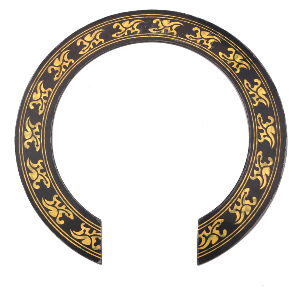 105mm Diameter Flower Pattern Guitar Circle Sound Hole Sticker Guitar Sound Hole Circle For Classical Guitar Decal Accessories Gold