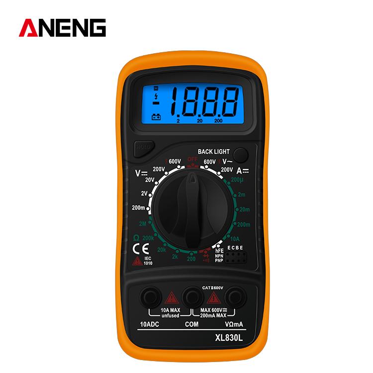 Handheld  Digital  Multimeter Xl830l Ac/dc Voltage Detector Tester Measurement Tool Orange