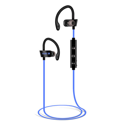 Bluetooth Earphones Wireless Headphones Earbuds Sports Gym for iPhone Samsung  blue