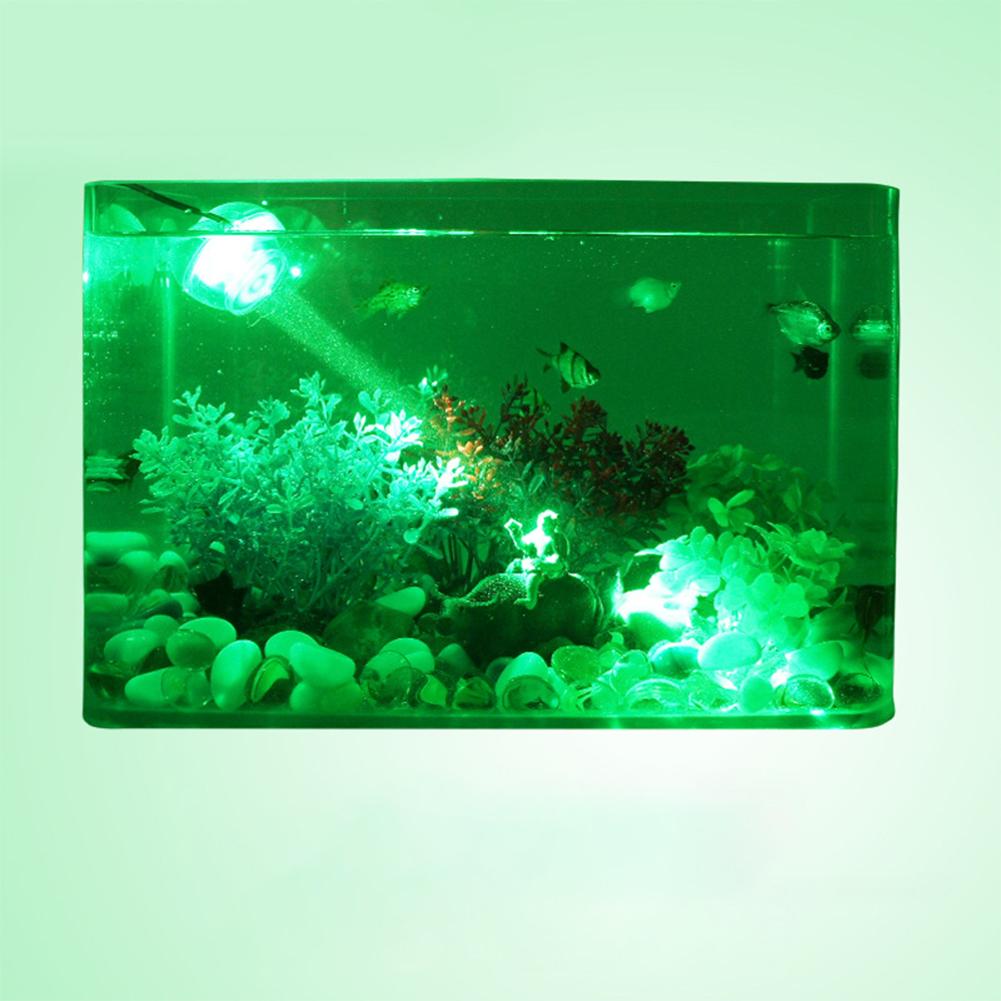 LED Diving Spotlight for Aquarium Fish Tank Decor Lighting EU Plug 110-240V green