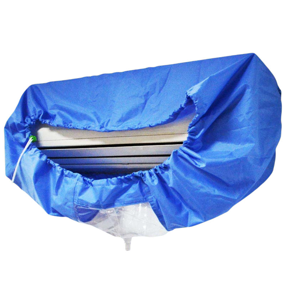 Blue Air Conditioner Cleaning Cover