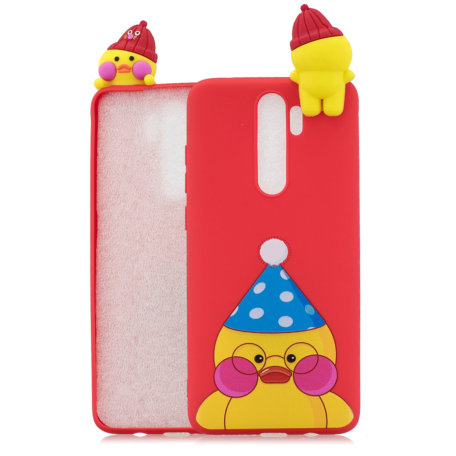 For Redmi NOTE 8 NOTE 8 pro 3D Color Painting Pattern Drop Protection Soft TPU Back Cover Mobile Phone Case red