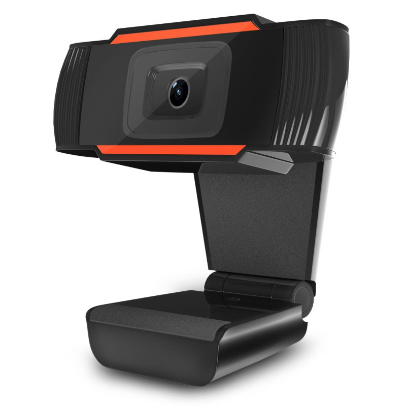 Webcam with Built-in HD Microphone Drive Free Auto Focus HD Web Cam black