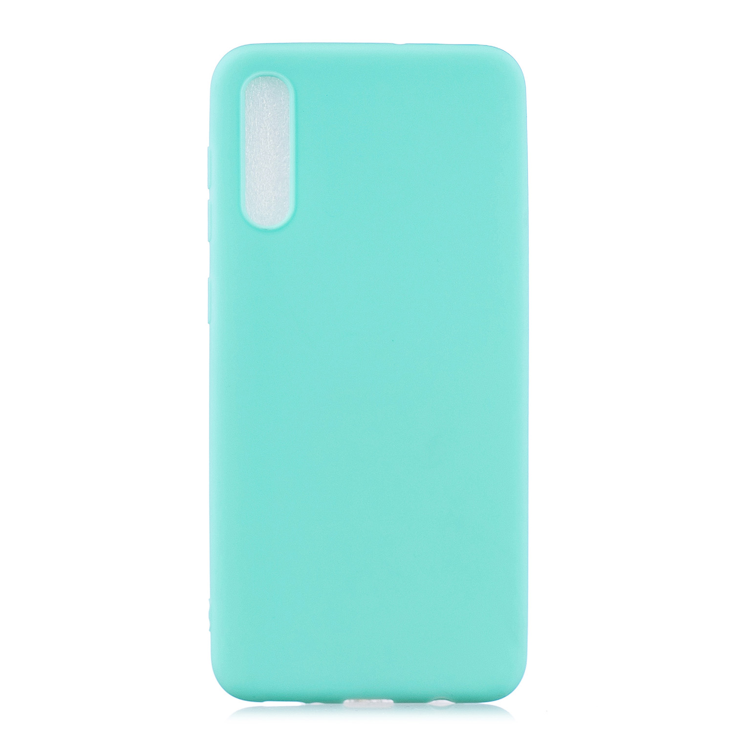 For Samsung A50 Lovely Candy Color Matte TPU Anti-scratch Non-slip Protective Cover Back Case Light blue