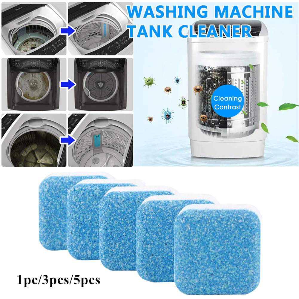 1PC 15G Cleaning Sheet Detergent for Washing Machine Cleaner Descaler 1pc