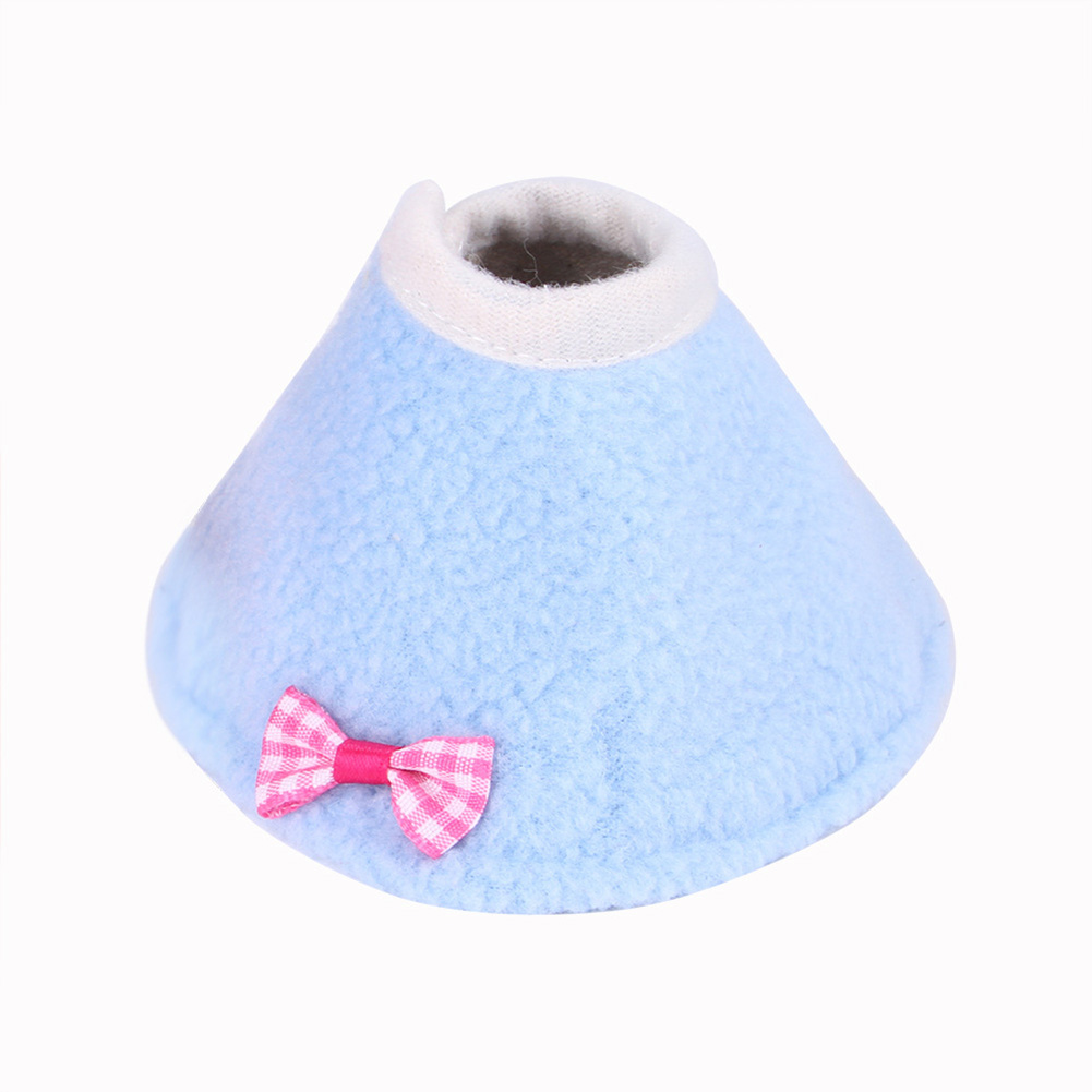 Pet Bird Cloak Collar Parrot Protection Cone Neck Recovery Anti Bite Clothes blue_L