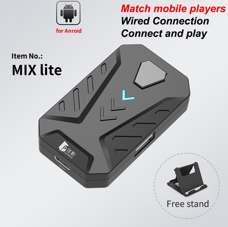 Game Converter Bluetooth 5.0  Mobile Controller Gaming Keyboard Mouse Converter for Android and iOS MIX lite