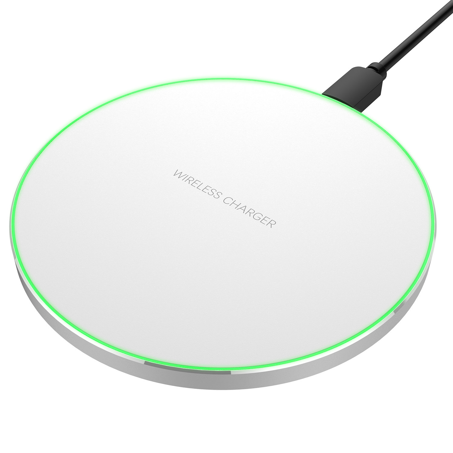White Portable Qi Wireless Charger