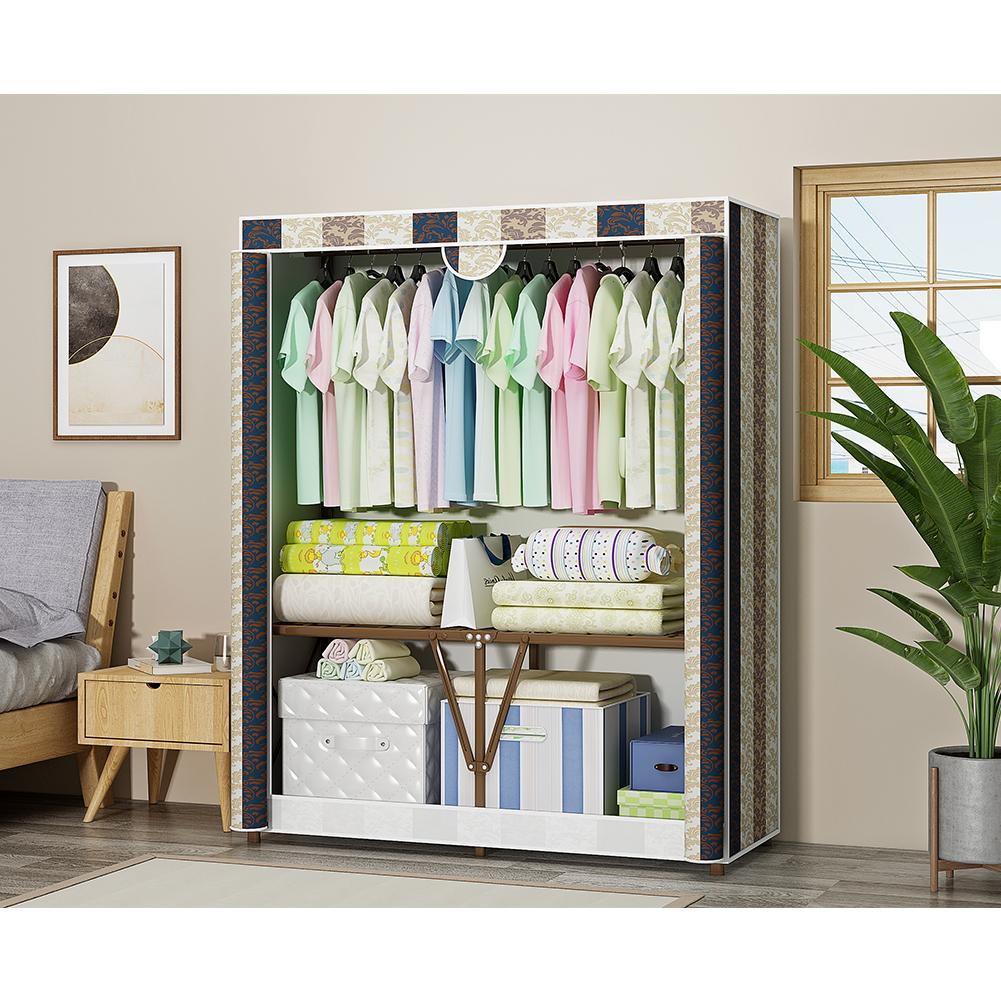 Folding Modern Oxford Cloth Wardrobe Dustproof Storage Cabinet Closet  110*45*165cm