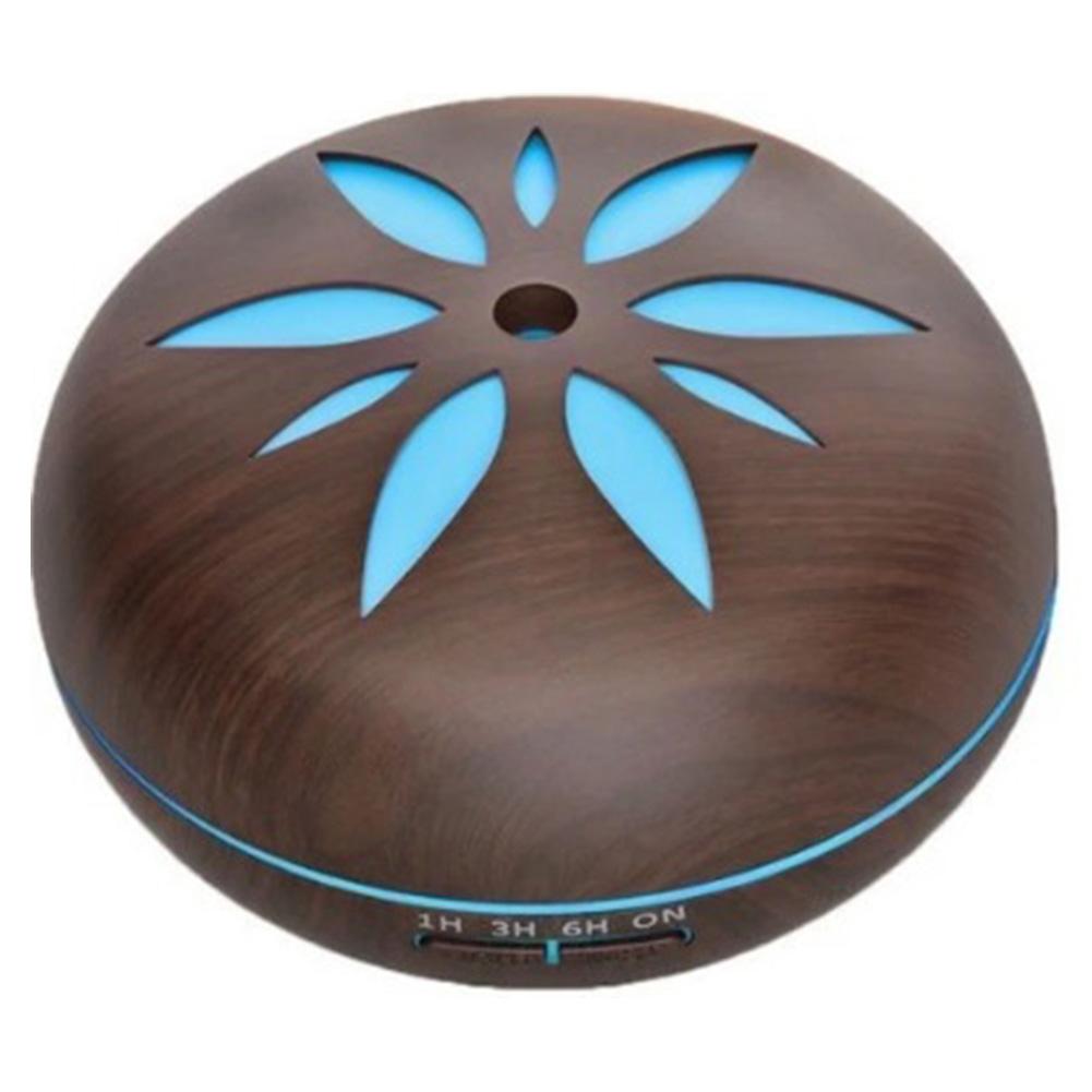 7 colour wood grain humidifier Household Air Humidifier Colorful Lights Air Purifying Mist Maker Deep wood grain (no remote control)_European regulations