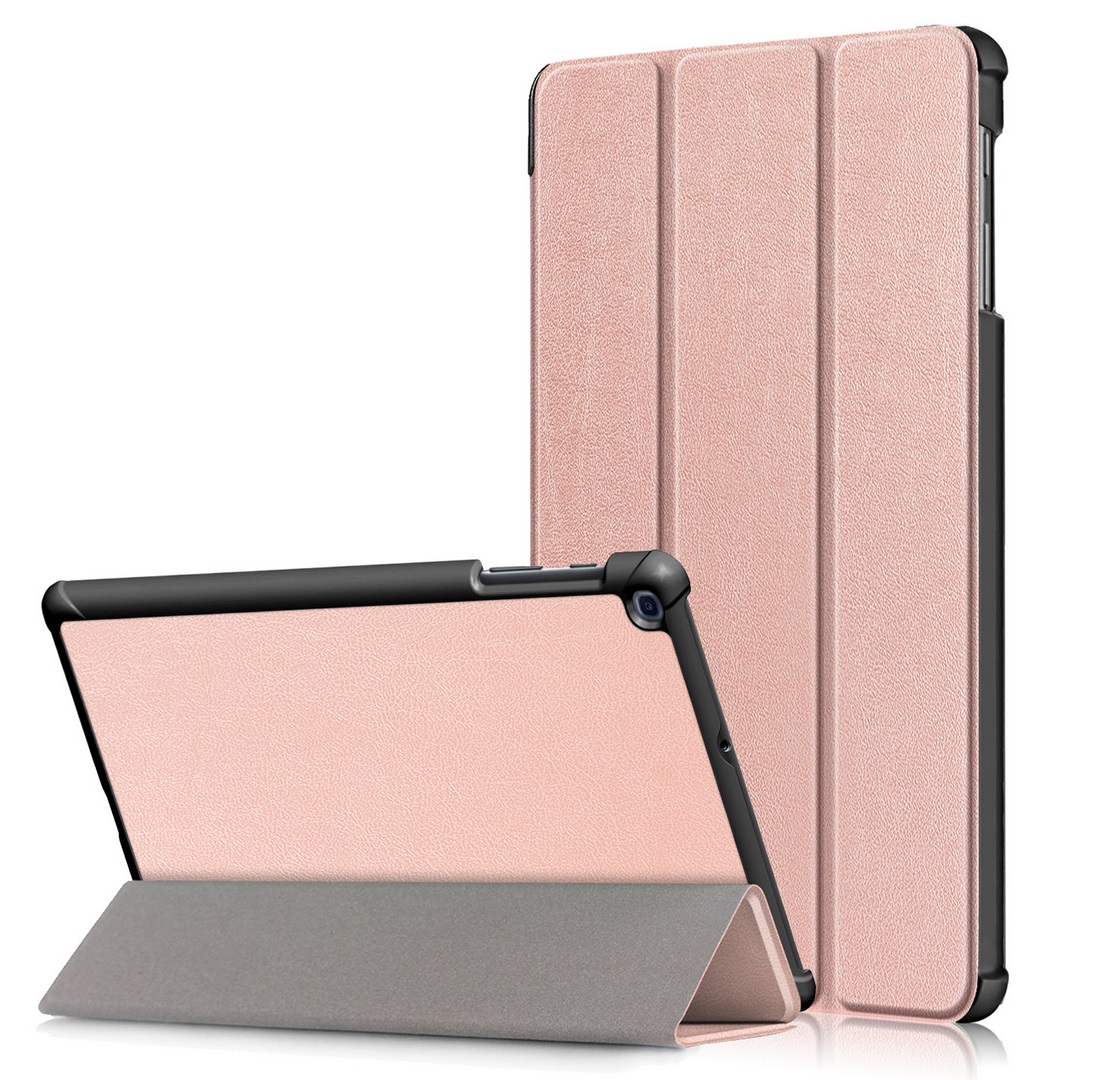 For Samsung Tab A 10.1 2019 T510 t515 Tablet PC Protective Case Flip Type Rose gold