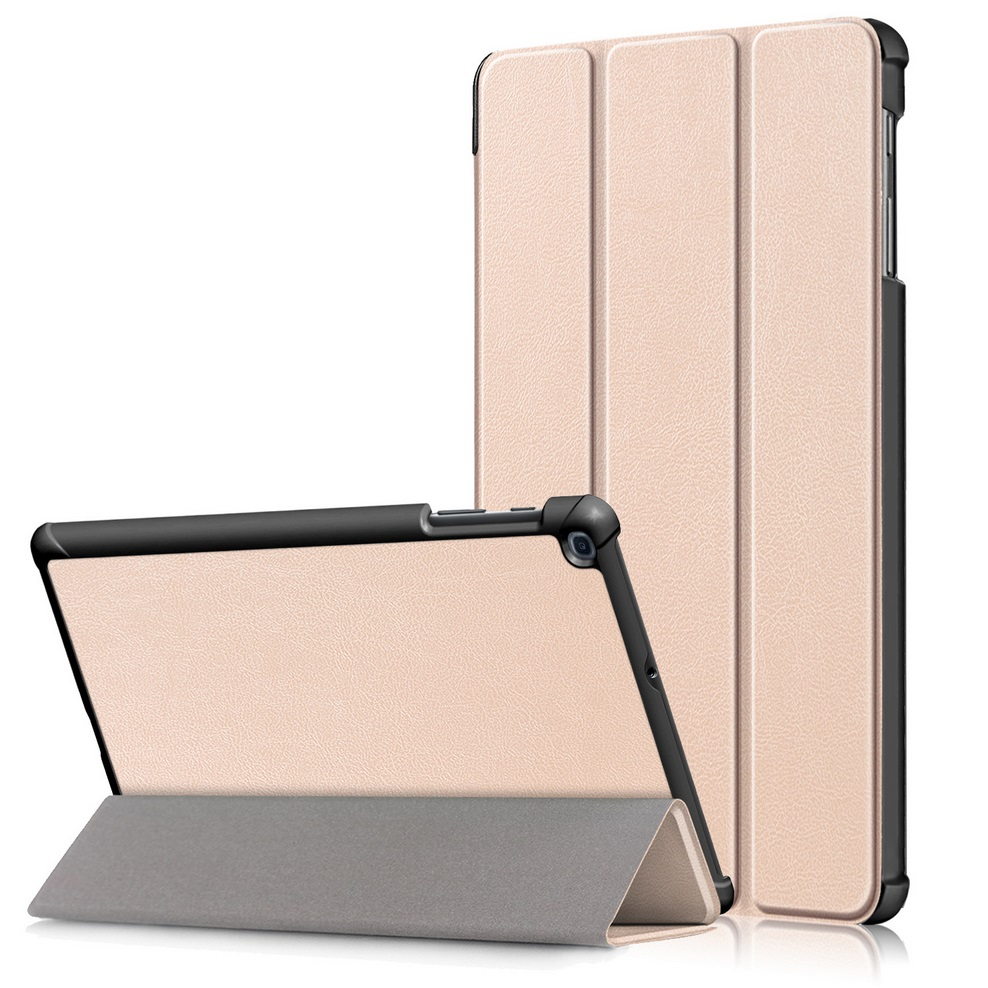 For Samsung Tab A 10.1 2019 T510 t515 Tablet PC Protective Case Flip Type Gold