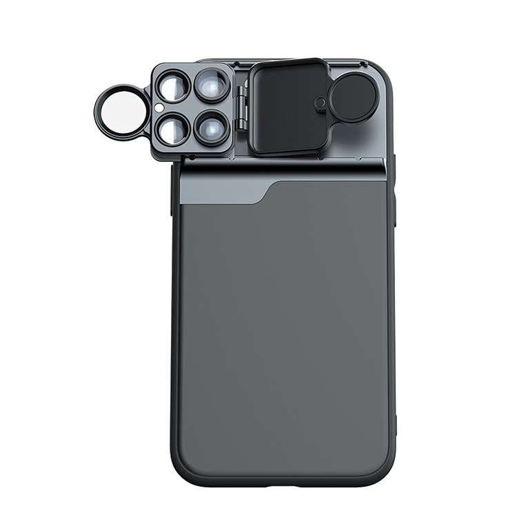 For 11PRO MAX Camera Lens Full Cover Protective Metal Ring Back Camera Lens Protector Case iPhone11 PRO MAX five lens phone case