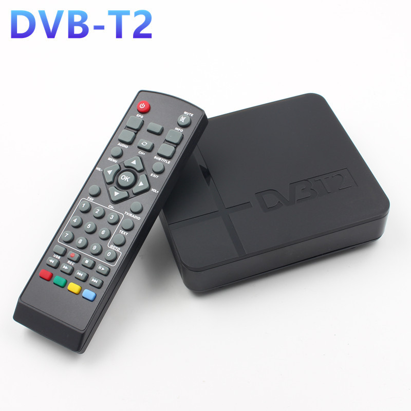 Mini HD DVB-T2 K2 WiFi Terrestrial Receiver Digital TV Box with Remote Control  EU plug