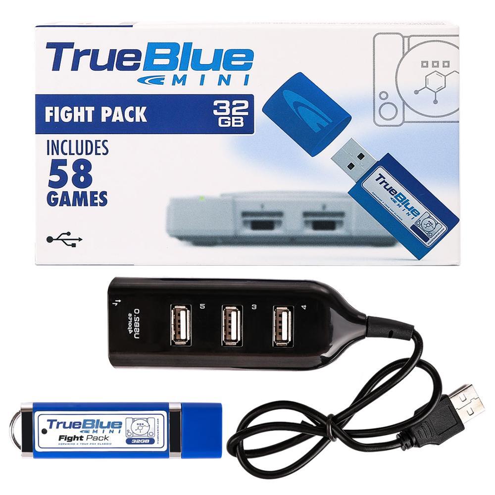 True Blue Mini Crackhead Pack 101 Games /Meth Pack 101 Games/32G Fight Pack 58 Games for  Classic Games & Accessories