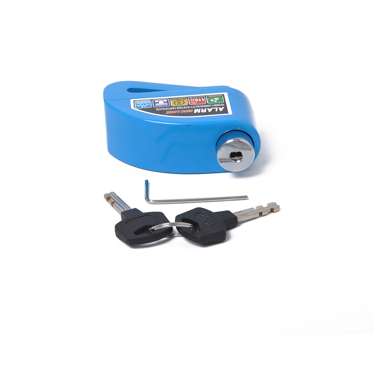 Waterproof Motorcycle Lock Bike Lock Security Anti-theft Lock Moto Disc Brake Lock Kit Blue-aluminum alloy disc brake lock