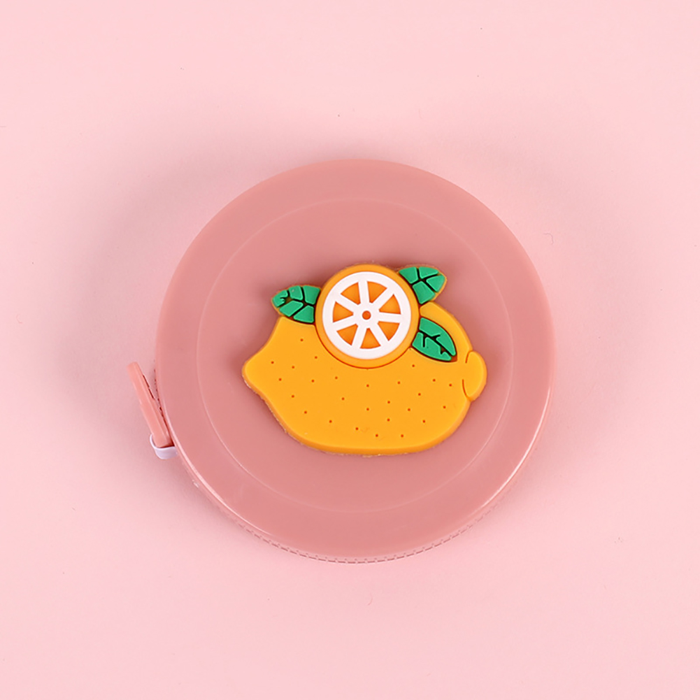 1.5m Cartoon Mini Tape Measure Measuring Tape for Body Fabric Sewing Tailor Cloth Knitting Measurements yellow orange