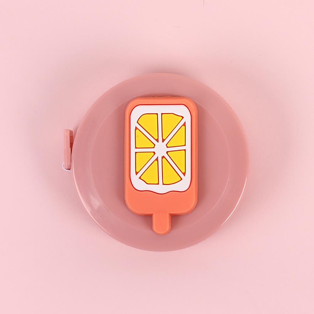 1.5m Cartoon Mini Tape Measure Measuring Tape for Body Fabric Sewing Tailor Cloth Knitting Measurements orange ice cream orange