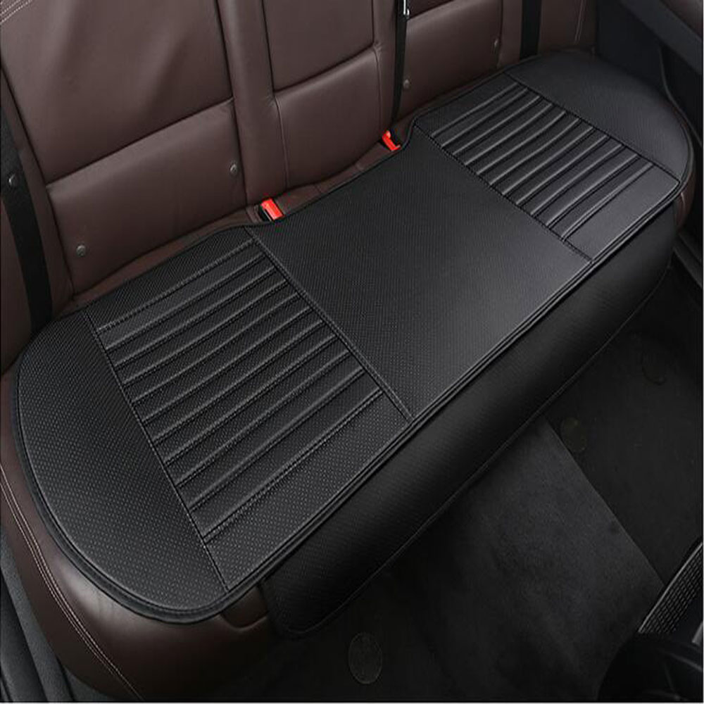 Universal Breathable PU Rear car seat cover car seat cushion black_Rear seat single row