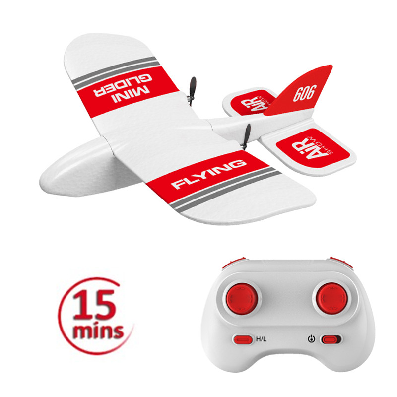 KF606 2.4Ghz RC Airplane Flying Aircraft EPP Foam Glider Toy Airplane 15 Minutes Fligt Time RTF Foam Plane Toys Kids Gifts 3 battery