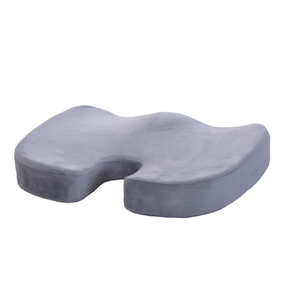 Orthopedic Memory Cushion Foam U Coccyx Travel Seat Massage Protect Healthy Sitting Breathable Pillows Silver gray