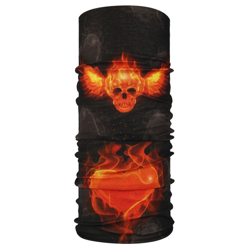 Multifunction Seamless Skull Pattern Magic Riding Mask Warm Scarf  Halloween Props 92#_25*50CM or so