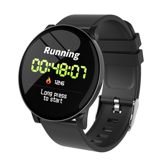 W8 Smart Watch Ladies Weather Forecast Fitness Sports Tracker Heart Rate Monitor Smartwatch Android Women Men's Watches Smart Bracelet black