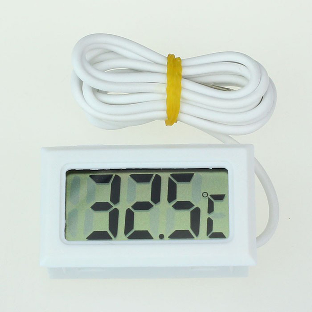 Mini LCD Digital Thermometer Fridge Freezer Thermometer for Fish Tank Aquarium white