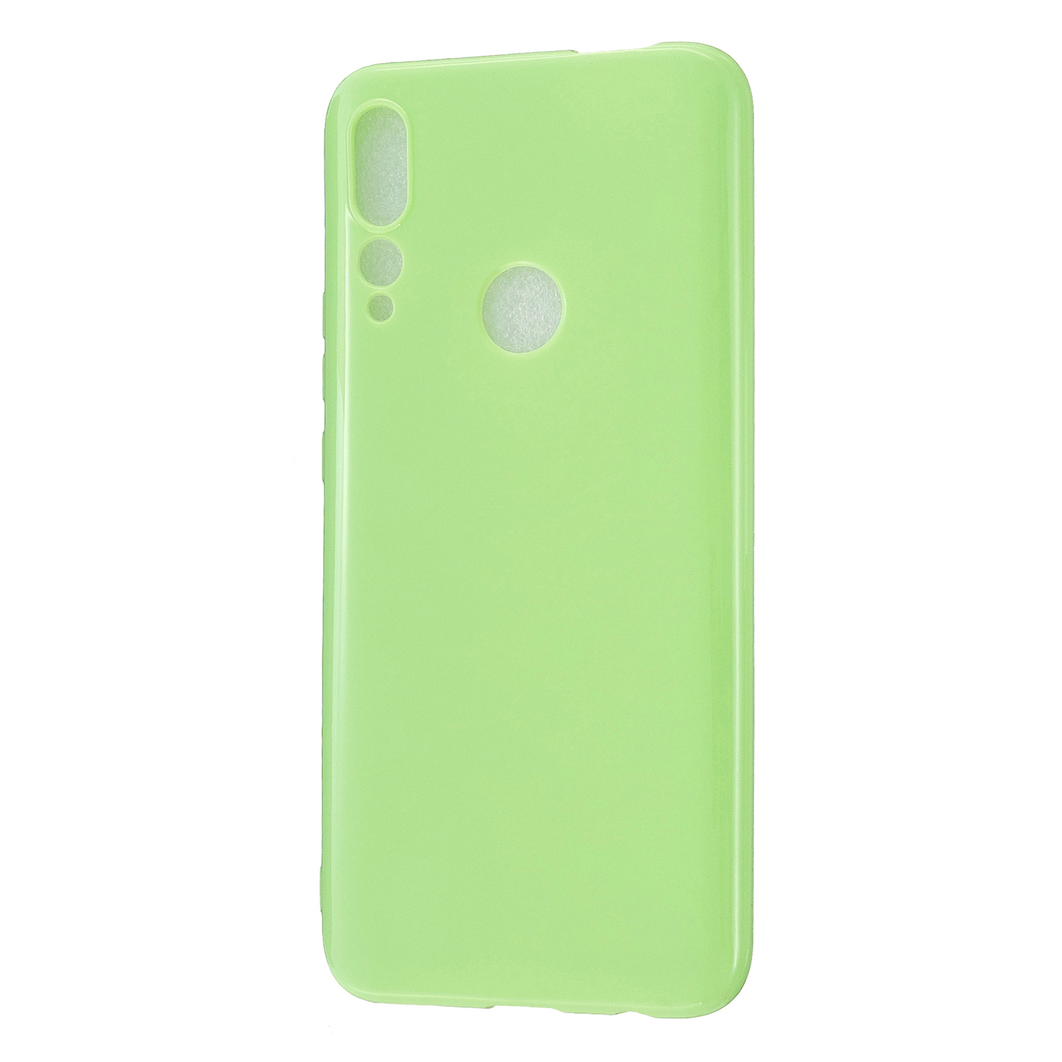 For HUAWEI Y9/Y9 Prime 2019 Cellphone Shell Glossy TPU Case Soft Mobile Phone Cover Full Body Protection Fluorescent green