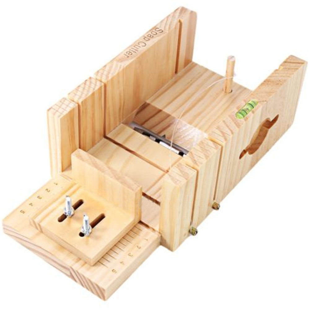 Multifunction Wooden Soap Cutter Box