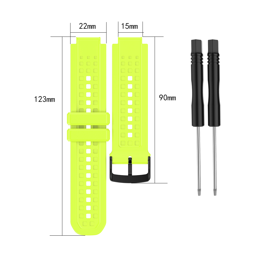 Men's Silicone Wristband Large Size Replacement Wristband for Garmin Forerunner 25 green