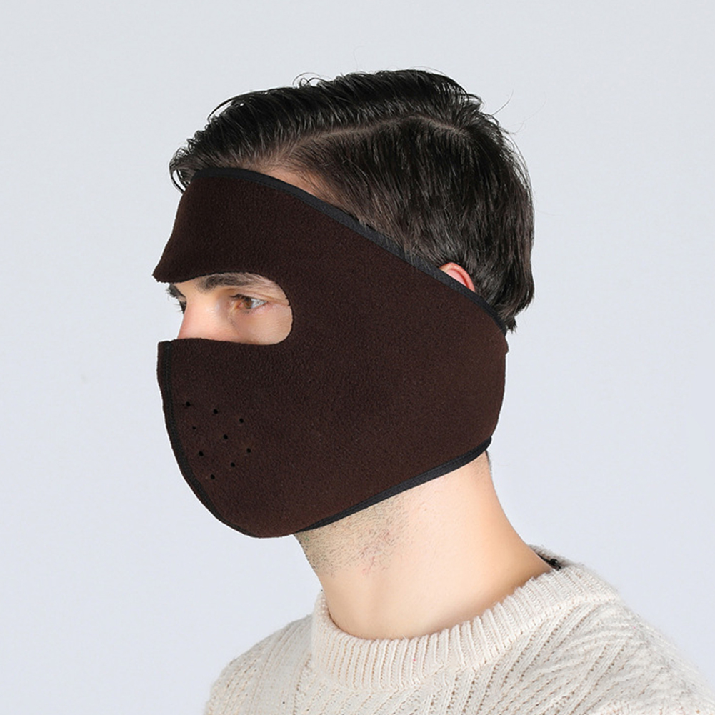 Motorcycle Cycling Ski Cold Winter Cold-proof Ear Warmer Sports Half Face Mask coffee_free size