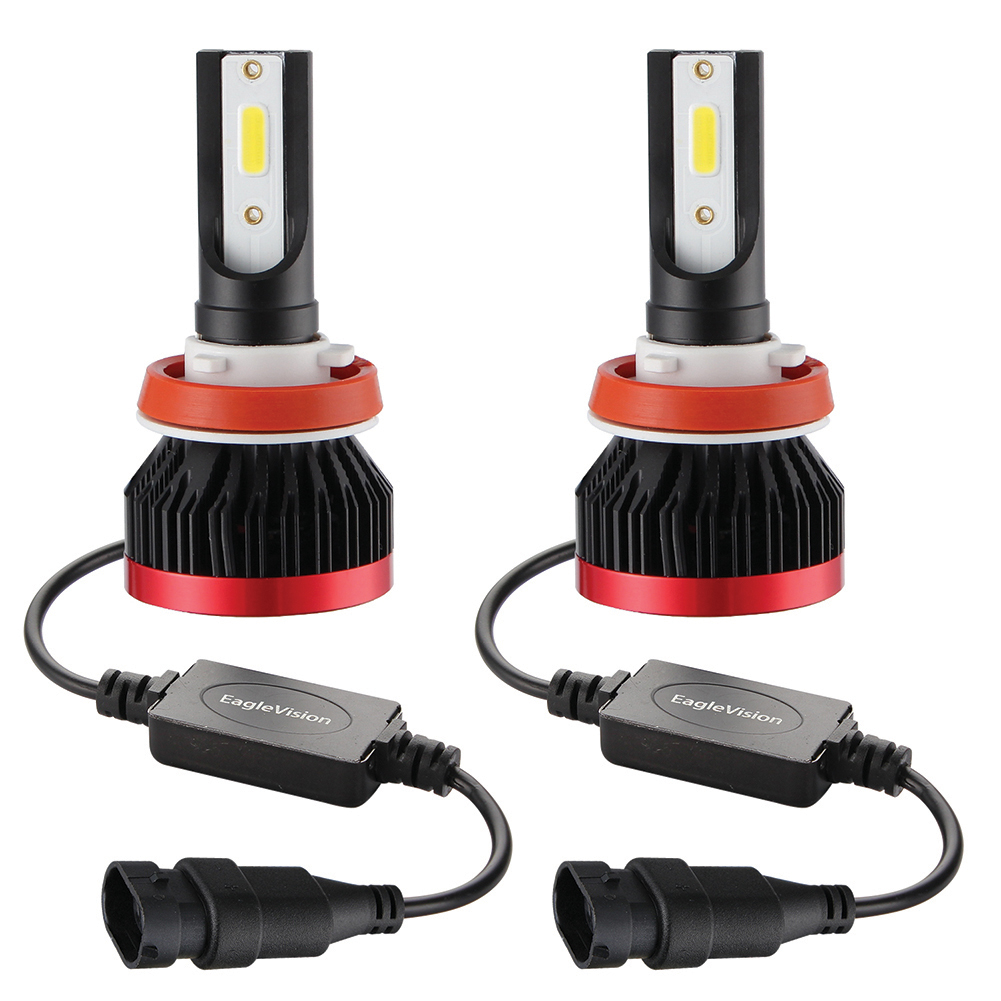 2PCS Mini Led Bulb Car Headlight H11 H1 H8 H9 H3 9005 / HB3 9006 / HB4 100W 20000LM 6000K Car Headlight 6000K white light_H8/H9/H11