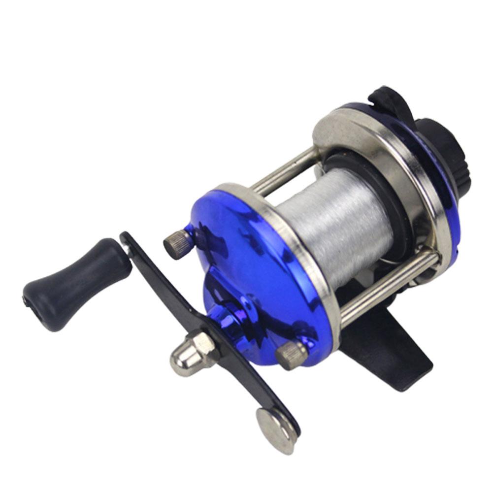 Fishing Reel Mini Metal Bait Casting Spinning Boat Ice Fishing Reel with Fishing Line Red ice wheel