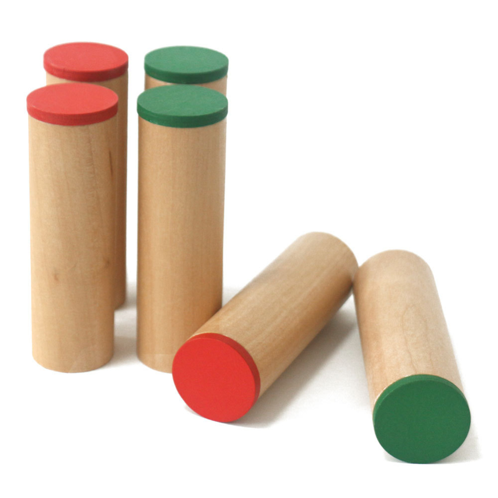Container Holder Storage Sound Cylinder Wooden Sensorial Auditory Material 6pcs/set