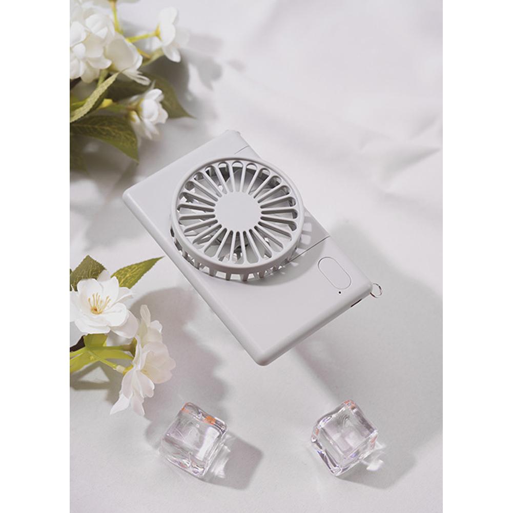 Mini Fan USB Charging Travel Hanging Neck Mini Summer Handheld Portable Desktop Fan gray_.120X75X22.5mm