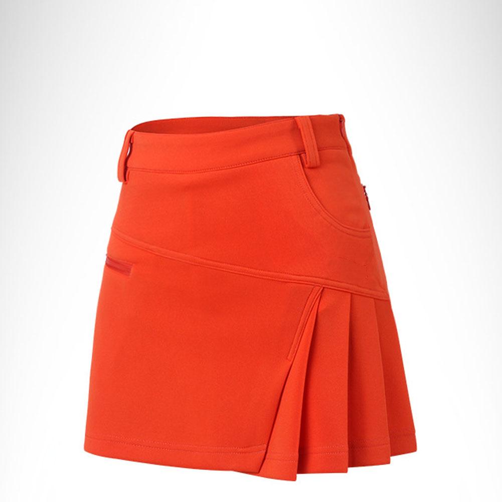 Golf Clothes Female Anti-emptied Cotton Soft Breathable Sweat Absorbtion Skirt Qz012 orange_XL