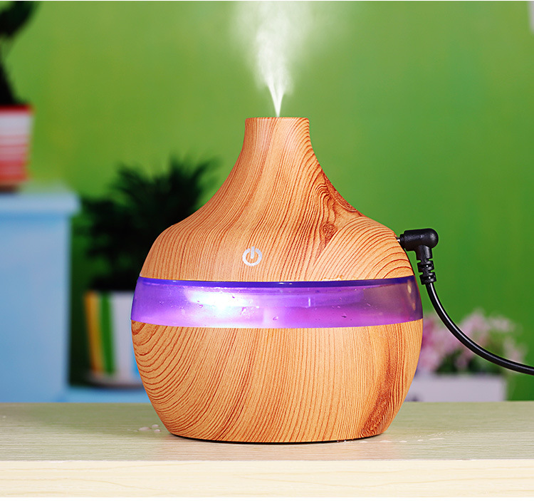 Wood Grain USB Water Drops Home Use Mute Mist Humidifier for Bedroom Living Room Light wood grain