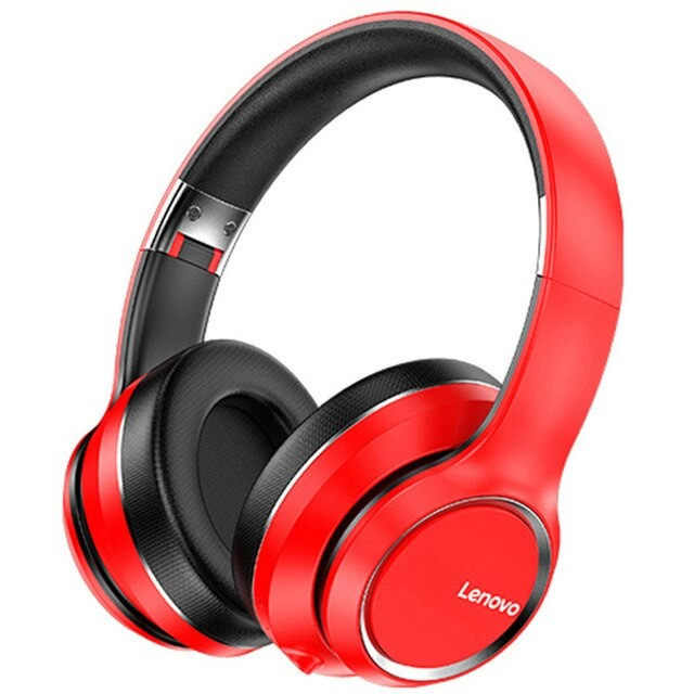 Original LENOVO Hd200 Wireless Bluetooth Headphone Foldable Headsets Noise Cancelling Sports Stereo Headphones red