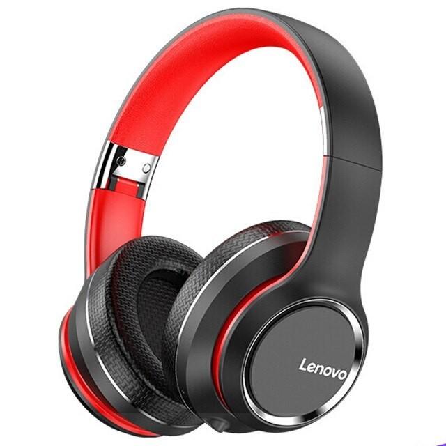 Original LENOVO Hd200 Wireless Bluetooth Headphone Foldable Headsets Noise Cancelling Sports Stereo Headphones black