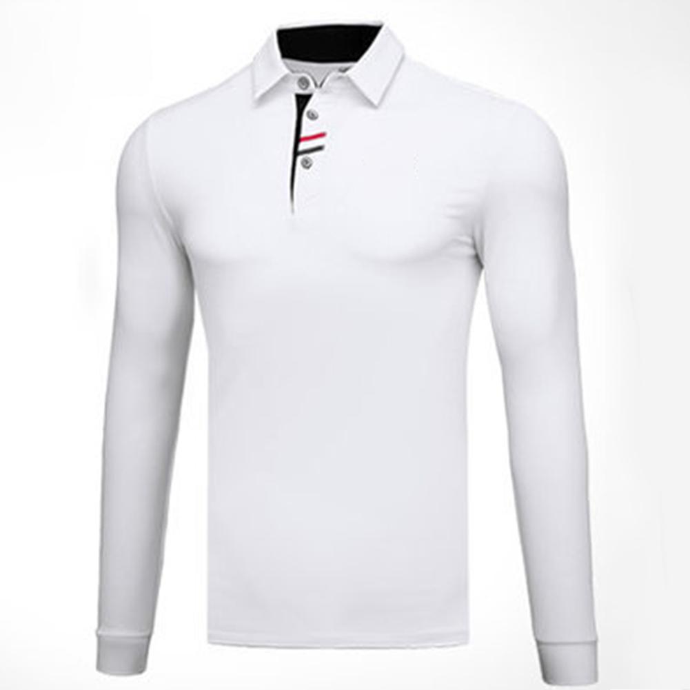 Golf Clothes Male Long Sleeve T-shirt Autumn Winter Clothes YF095 white_L