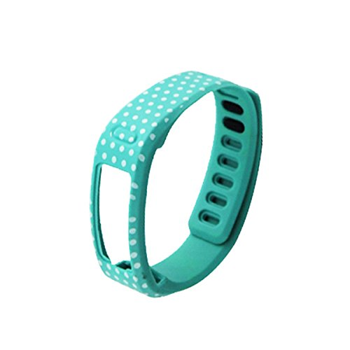 Guzila 1PCS Large Lime Color With White Dots Spots Replacement WristBand for Garmin Vivofit(No tracker, Replacement Bands Only)