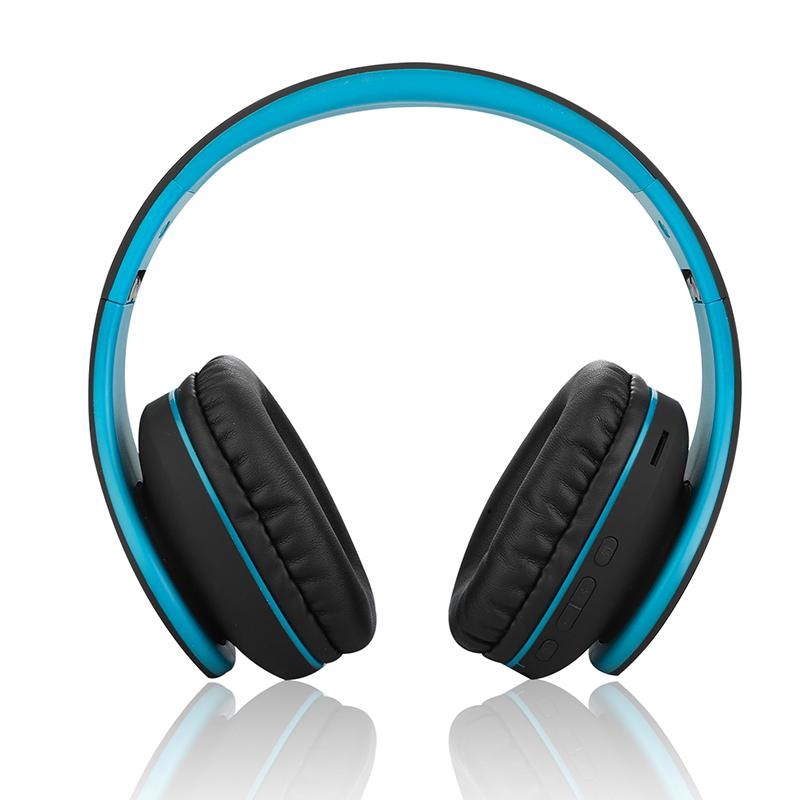 Wireless Bluetooth  Earphones Card Folding Subwoofer Mobile Phone Headset Bluetooth Headset dark blue