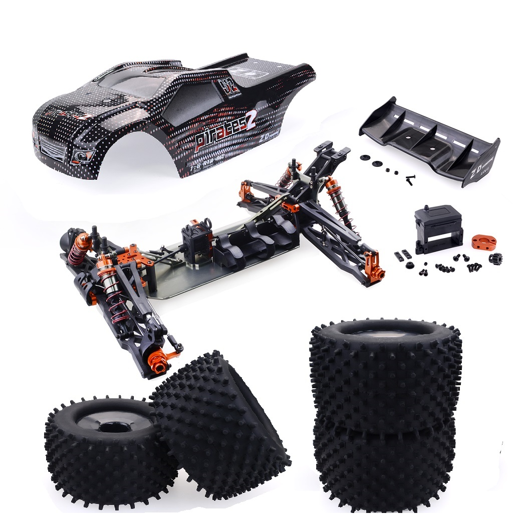 ZD Racing 9021-V3 1/8 2.4G 4WD 80km/h Brushless Rc Car Full Scale Electric Truggy RTR Toys Black frame (excluding electronic accessories)