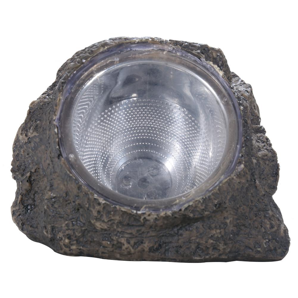 Solar Powered Decorative Resin Stone Spot Light, Outdoor Water Resistant LED Landscape Lamp for Garden/Yard 14 * 11 * 11cm