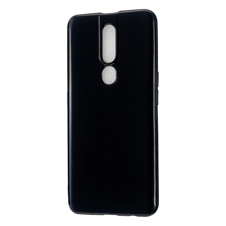 For OPPO F11/F11 Pro Cellphone Cover Glossy TPU Simple Profile Bumper Protective Mobile Phone Case Bright black