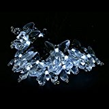 Decorative Butterfly Solar Powered String Lights 15 Feet 20 LED For Outdoor, Gardens, Lawn, Patio, Wedding,Warm White